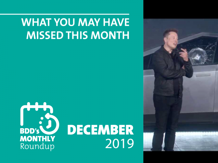 BDD's Monthly Roundup: What You May Have Missed (December)